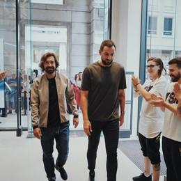 Percassi, nuovo store Nike a Milano Pirlo e Belinelli testimonial - Foto
