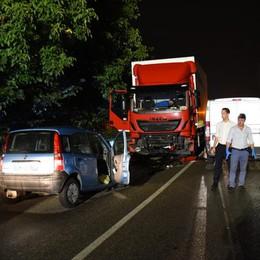 Incidente mortale a Ranica Scontro sulla strada provinciale