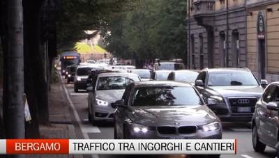 Bergamo torna dalle vacanze  tra ingorghi e cantieri - Video