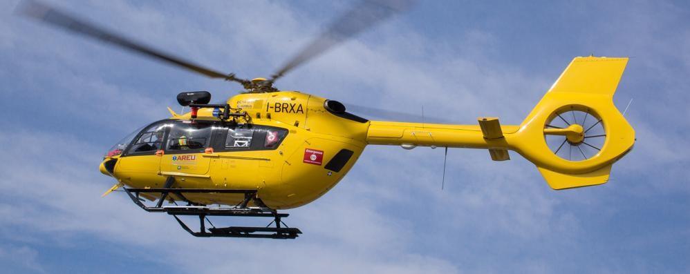 Incidente in Brebemi, grave motociclista Due feriti, interviene anche l'elisoccorso