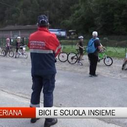 Val Seriana, bici e scuola insieme