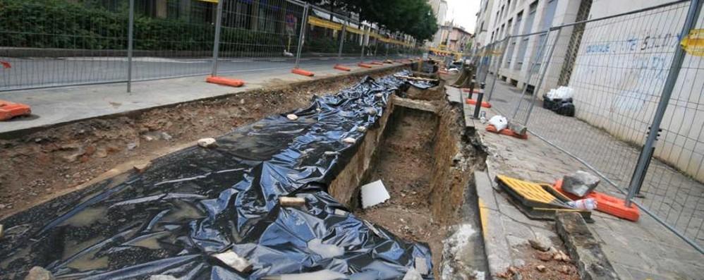 Bergamo, lavori del teleriscaldamento  Modifiche alla viabilità in centro - Guarda
