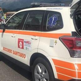 Incidente auto moto a Madone Molto grave un 49enne