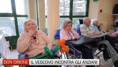 Il Vescovo di Bergamo incontra gli anziani al Don Orione