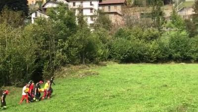 Motociclista grave, i soccorsi a Taleggio