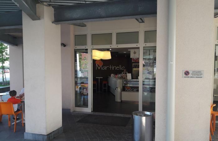 La gelateria Martinella in via Corridoni 107 a Bergamo