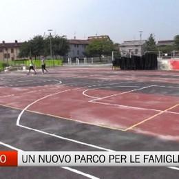 Tra sport e giochi d'acqua nasce la piazza don Sandro di Romano di Lombardia