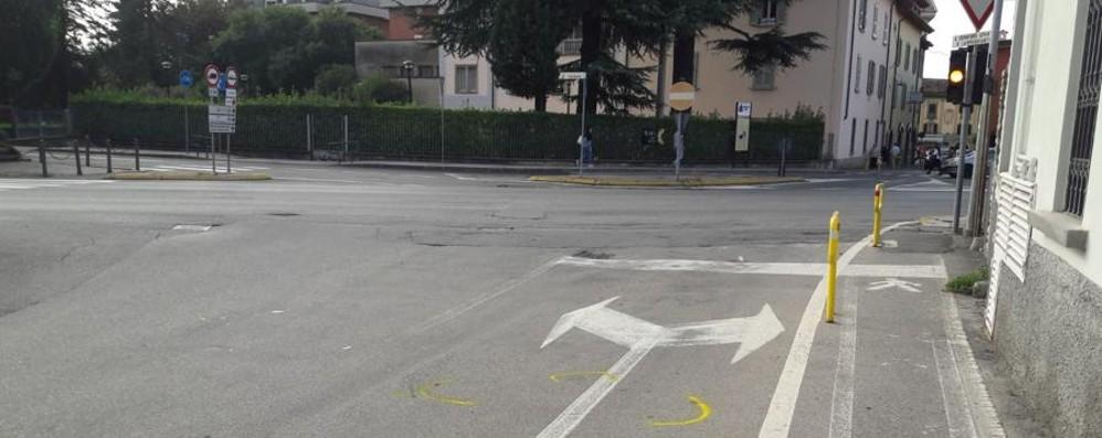 Trescore, grave un ciclista 44enne Travolto da un'auto e sbalzato a terra