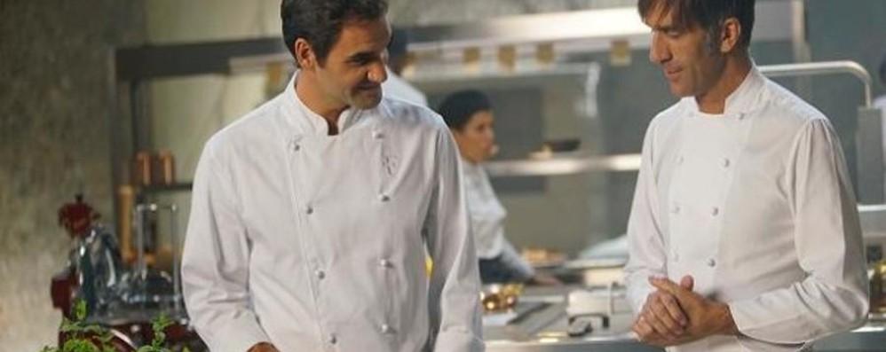 Federer avvistato nella Bassa A Villa Borromeo per uno spot