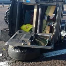 In auto con la famiglia, poi l'incidente in A4 Grave una bimba di 11 anni di Bergamo