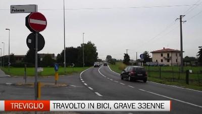 Travolto da un'auto all'alba. Treviglio, grave ciclista di 33 anni.
