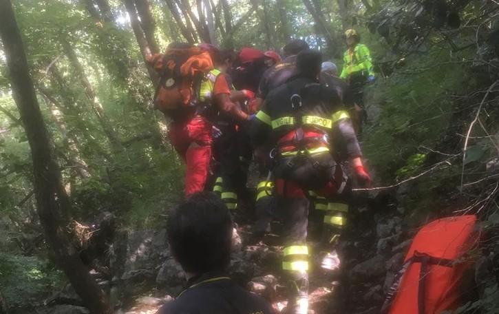 Berbenno, cade nel bosco - Video   51enne di Bergamo in gravi condizioni