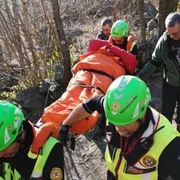 Jeep con catene per  una 52enne ferita Soccorso Alpino in azione a Valbondione