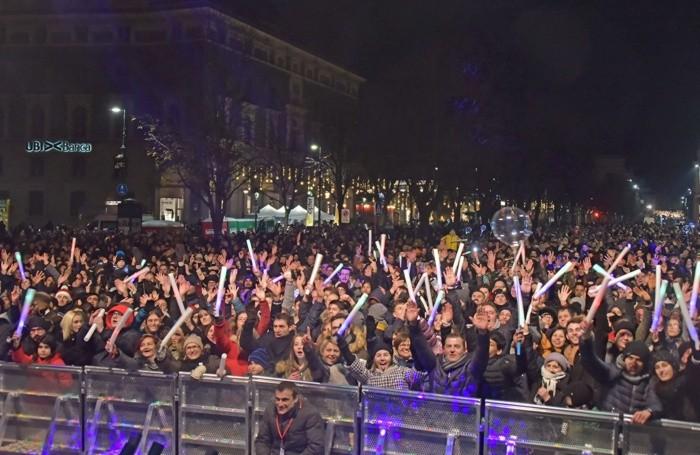 La festa in centro a Bergamo