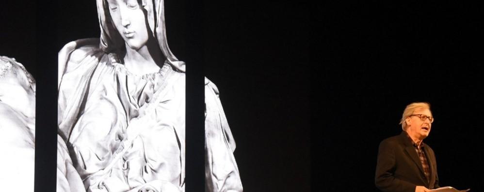 Vittorio Sgarbi torna a Bergamo Al Creberg Teatro racconterà Leonardo