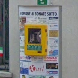 Bonate Sotto, sparisce il defibrillatore Il sindaco: «Inciviltà inammissibile»