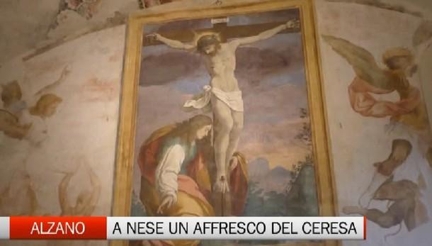 Nese, ritrovato affresco di Ceresa