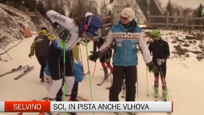 Selvino, la sciatrice Vlhova si allena al Purito