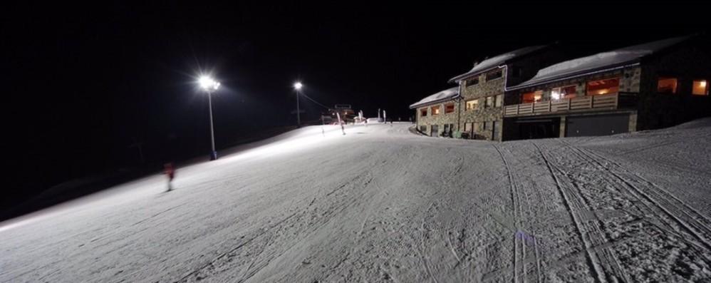 La pista Termen si illumina di sera Sul Pora via alle sciate «by night»