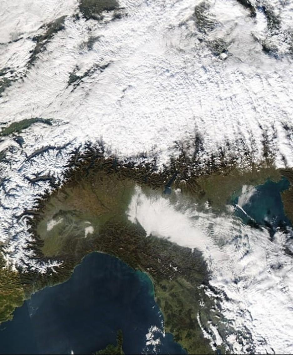 La nebbia vista dal satellite