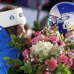 Sofia e l'abbraccio a Lindsey Vonn «I suoi fiori una grande emozione»