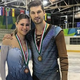 Carolina e Matteo, divisi  sui pattini «Ma nella vita stiamo insieme»