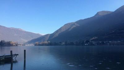 A Spinone il lago ghiacciato