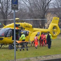 Schianto nel Cremonese, gravi tre bimbi  Elicottero da Bergamo per i soccorsi
