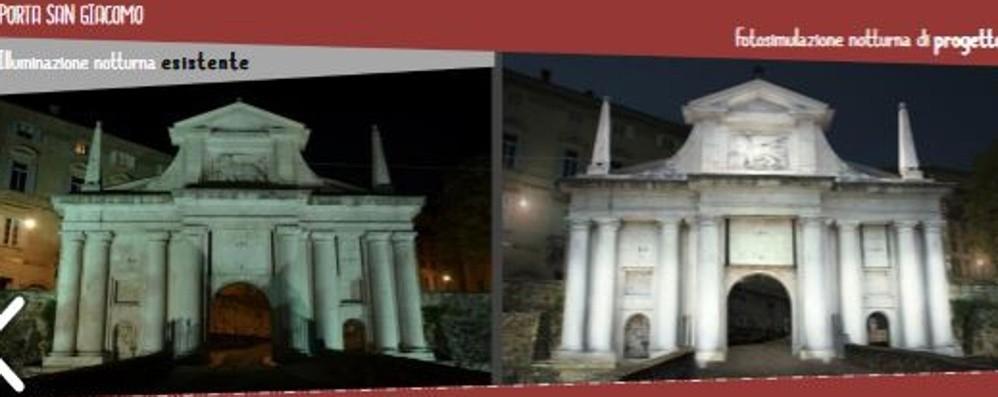 Una nuova luce per le Mura di Bergamo 15 mila nuove lampade, 1 milione di €