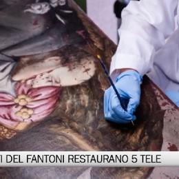 Bergamo - Studenti del Fantoni restaurano cinque tele