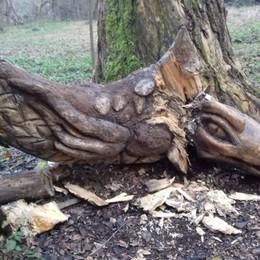 Il leggendario drago del lago Gerundo distrutto dai vandali nelle feste di Natale