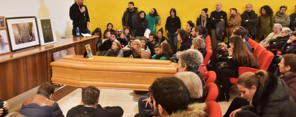 Ricordi e lacrime per l'addio a Gato Museo Caffi traboccante d'affetto
