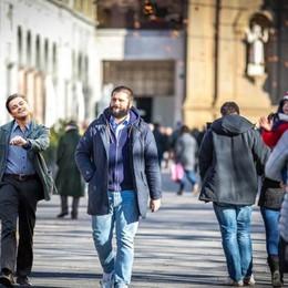 Saldi a Bergamo, partenza con il sole E a fare shopping c'è  Leonardo Di Caprio