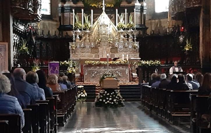 Addio a Vincenzo Caccia, morto sul lavoro A Gandino Basilica gremita per i funerali