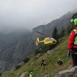 Elicottero in volo due volte in poche ore Presolana, soccorsi tre escursionisti