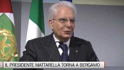 il Presidente Mattarella torna a Bergamo