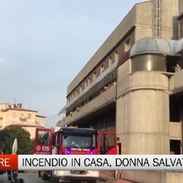 Trescore Balneario, incendio in casa: salvata donna 55enne