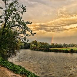 «Arcobaleno incantato al tramonto...»