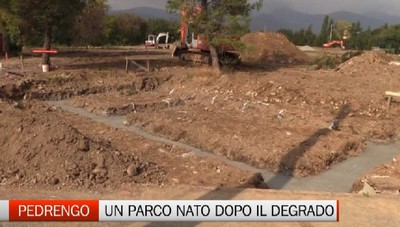 Lavori in corso a Pedrengo per il nuovo parco del Serio