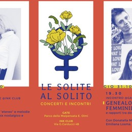 Rassegna «Le Solite al Solito» Concerti e incontri al Gate e all'Ink
