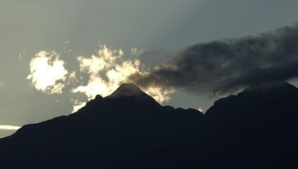 Un tramonto «vulcanico»