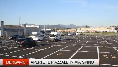 Bergamo, aperto il piazzale di Via Spino
