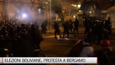 Elezioni a La Paz, la protesta della comunità boliviana in Bergamasca