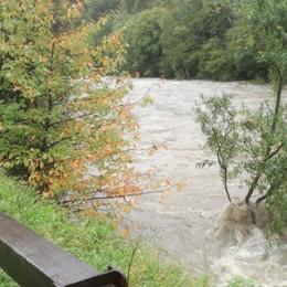 Serio e Brembo, i fiumi in piena - Foto Allagamenti sulle strade, traffico in tilt