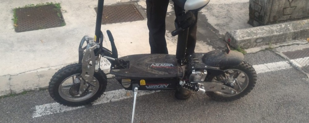 Sul microciclo elettrico senza patente Super multa da 3.500 euro a Dalmine