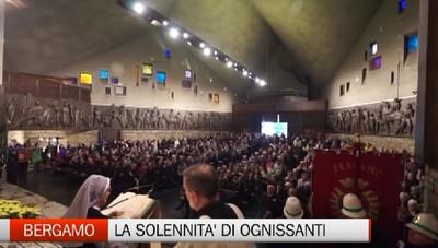 Bergamo, la solennità di Ognissanti