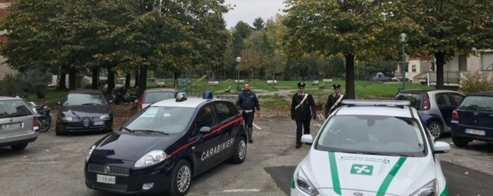Blitz alle «Quattro Torri» di Verdellino Droga nella cassetta antincendio