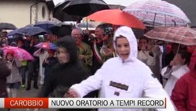 Carobbio - Il nuovo oratorio pronto in tempi da record
