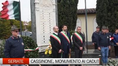 Cassinone, un monumento ai caduti delle guerre