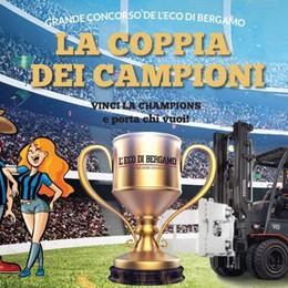 Con «L'Eco» si vince la Champions Mercoledì 30 in palio Atalanta-Dinamo